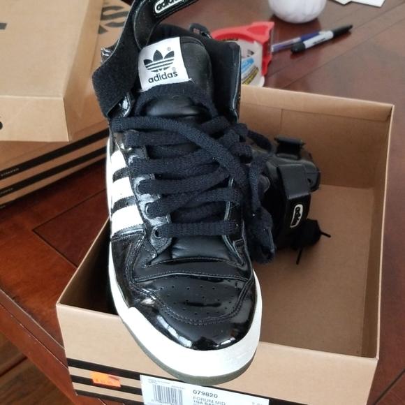 Adidas Forum Black Patent Leather